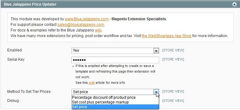 Price Updater configuration