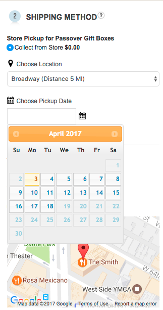 Magento 1: Display Pickup Calendar in checkout