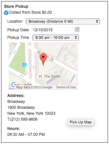 Magento 1: Pickup Location Details in Checkout
