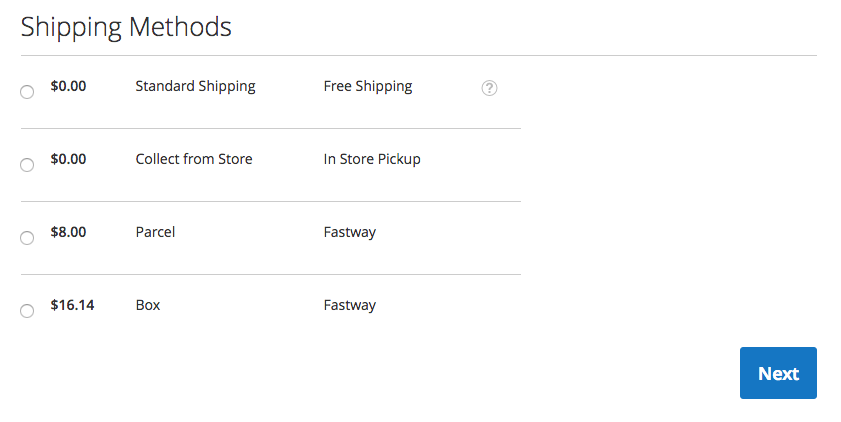 Magento 2 - Fastway Courier