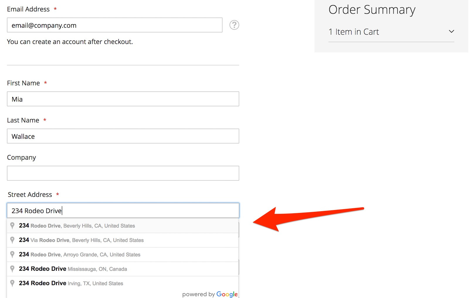 Magento 2: Checkout Address Auto Complete