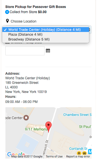 Magento 1: Pickup location options for customers in Checkout
