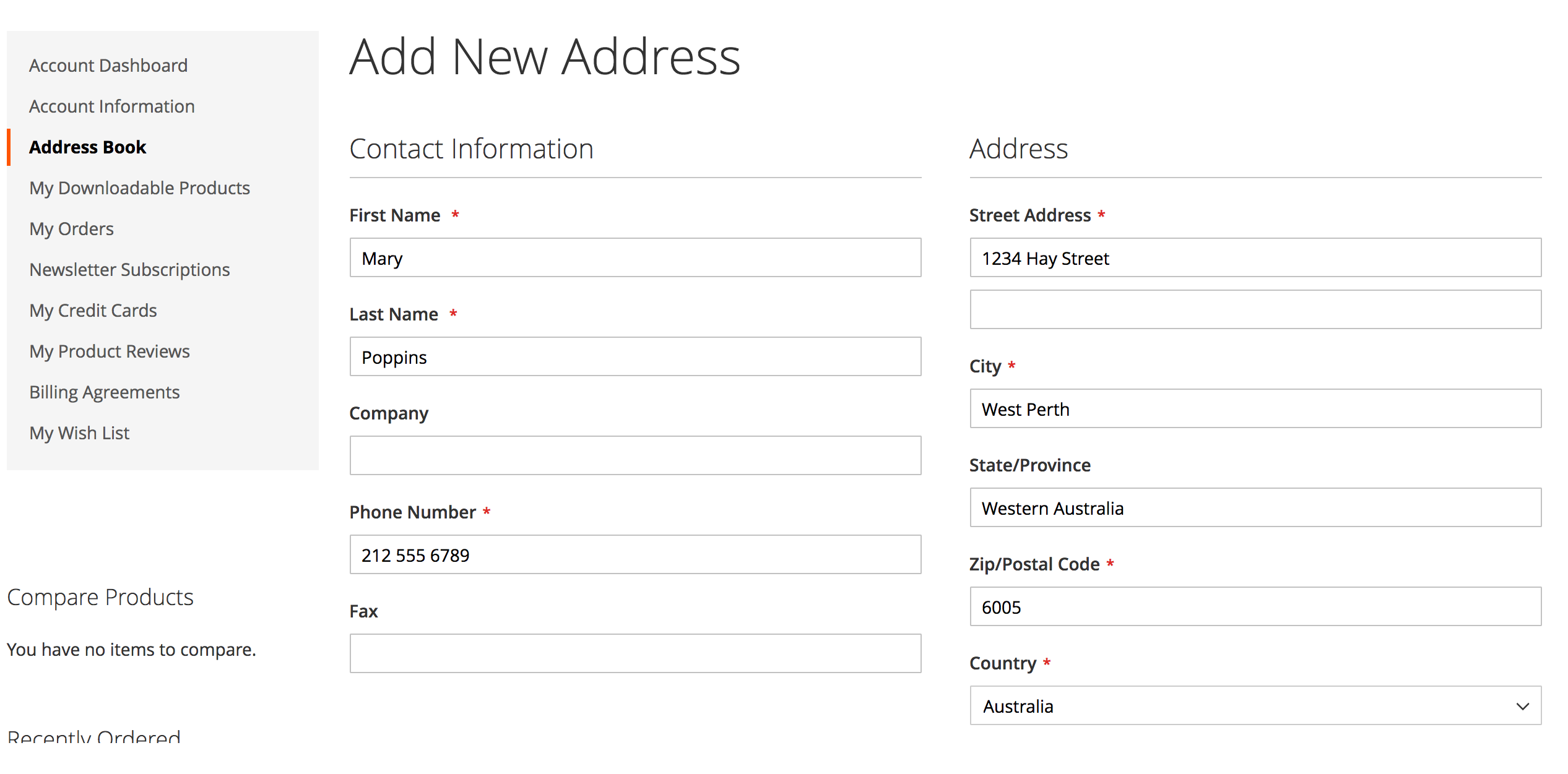 Address Auto-Complete in Address Book